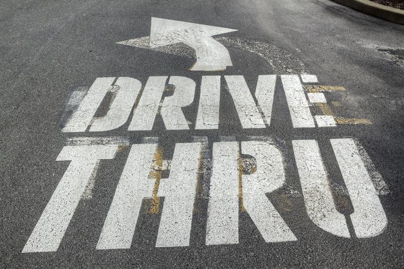 ⤴ DRIVE THRU