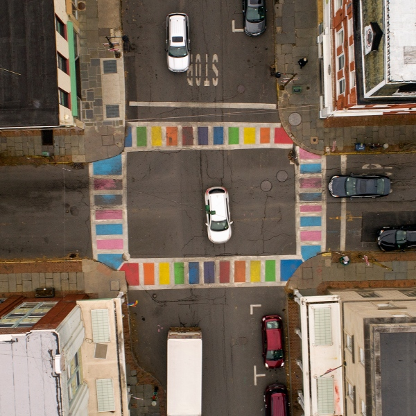 Colours Some Cars Some Buildings