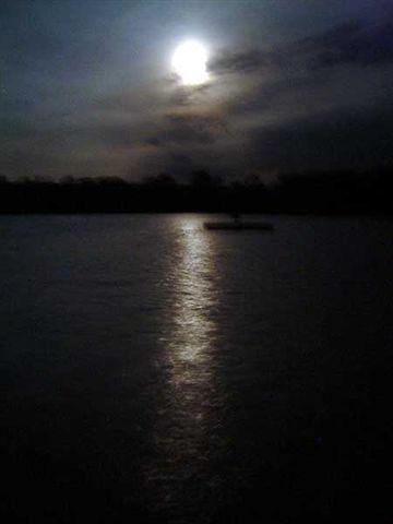 Cloudy Eclipse Night