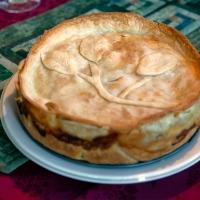 Creamy Vegetable Halloumi Pie
